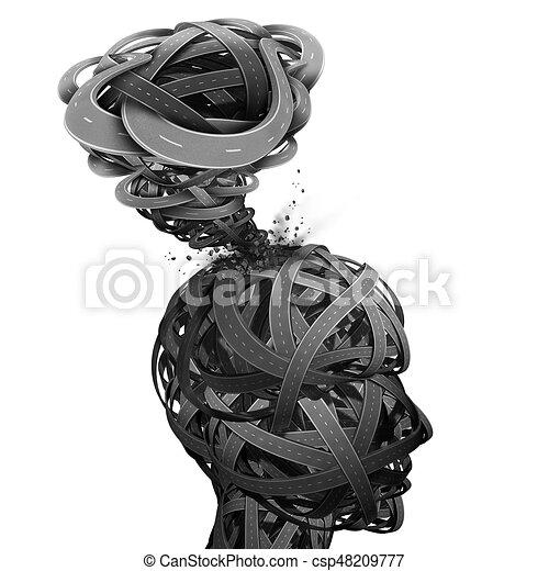 mental, confusion - csp48209777