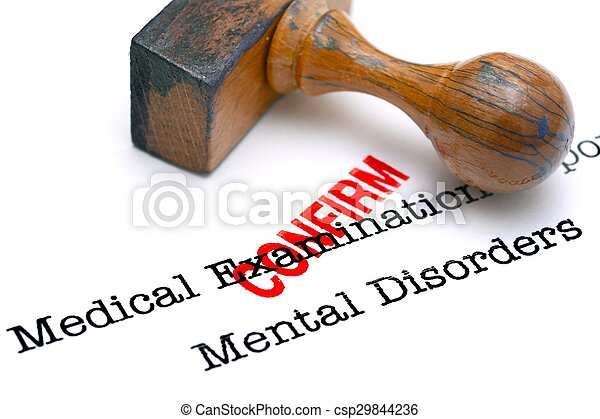 Mental disorder confirm - csp29844236