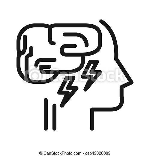 mental exhaustion illustration design - csp43026003