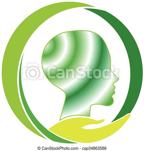 Mental health care logo. Mental health care vector image.
