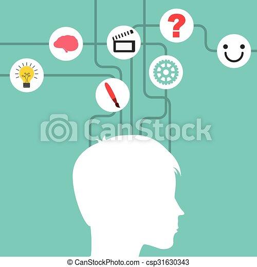 mental health design  - csp31630343