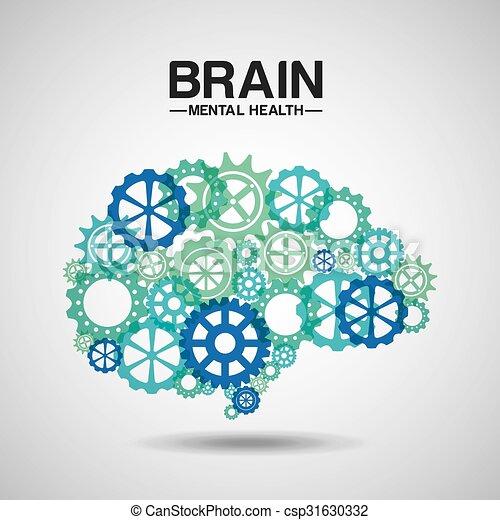 mental health design  - csp31630332