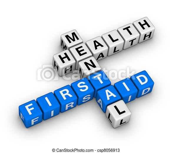 mental health first aid crossword - csp8056913