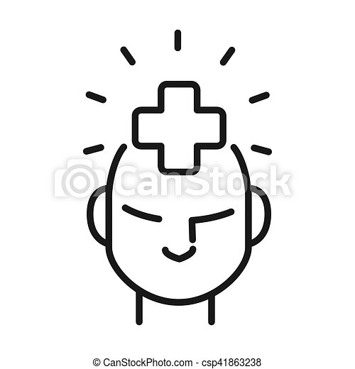 mental health illustration design - csp41863238