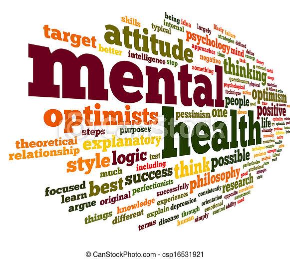 Mental health in word tag cloud - csp16531921