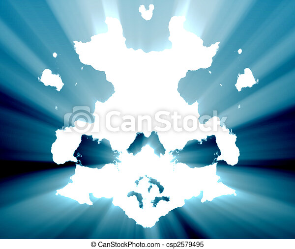 Mental health inkblot background - csp2579495