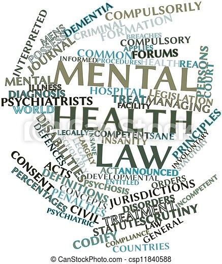 Mental health law - csp11840588