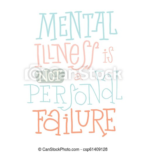 Mental Health Quotes Vector illustration Type template