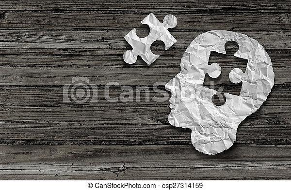 Mental Health Symbol - csp27314159