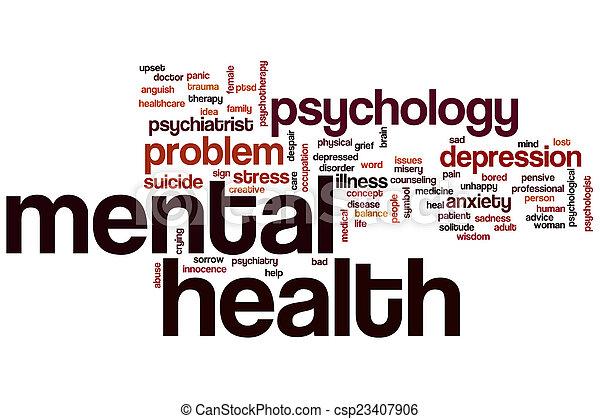 Mental health word cloud - csp23407906