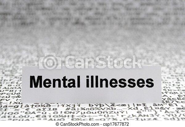 Mental illnesses - csp17677872