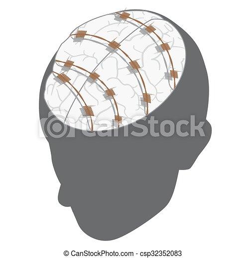mental slavery concept. - csp32352083