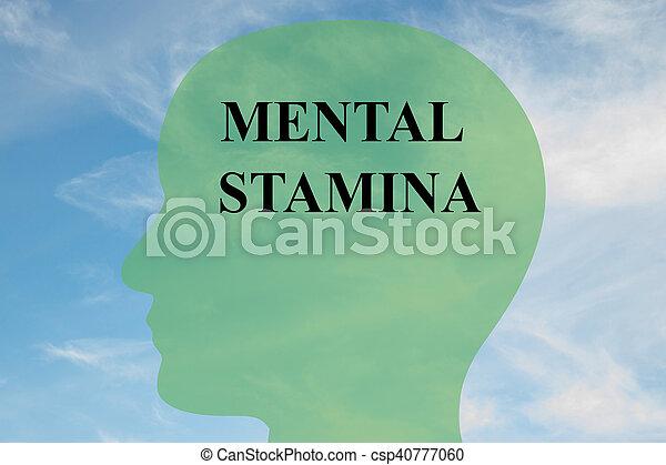 Mental Stamina concept - csp40777060