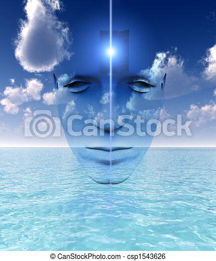 La puerta a una mente abierta - csp1543626