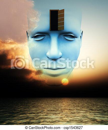La puerta a una mente abierta - csp1543627