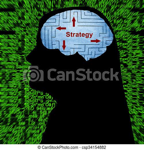 mente, estratégia - csp34154882