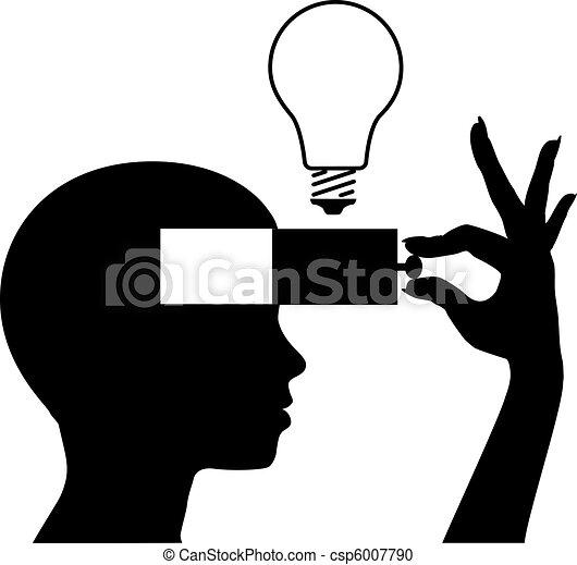 mente, idea, imparare, nuovo, educazione, aperto - csp6007790