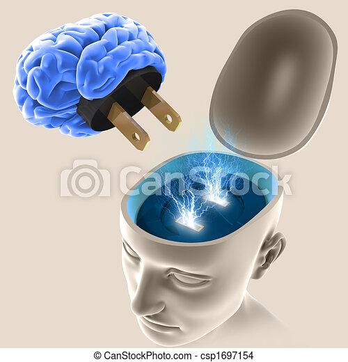 mente, inserita/disinserita - csp1697154