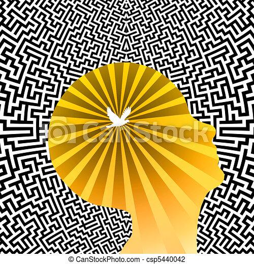 Mente libre de deslumbramiento - csp5440042