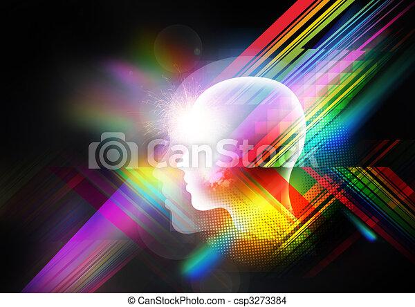 Trasfondo mental retro - csp3273384