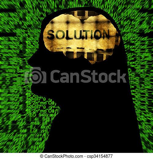 mente, solução - csp34154877