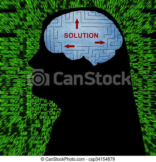 mente, solução - csp34154879
