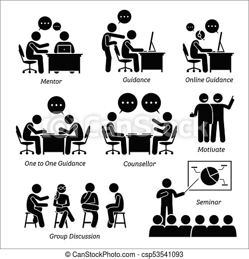Mentor guidance coach for business executive. - csp53541093