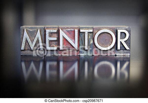 Letra mentor - csp20987671