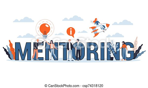 Mentoring concept. Giving advice for career success - csp74318120
