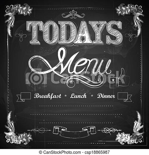 menu, écrit, tableau - csp18865987