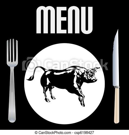 menu, bifteck - csp6198427