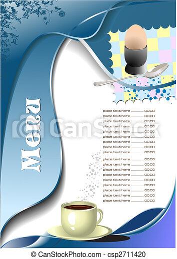 menu, (cafe), restaurant - csp2711420