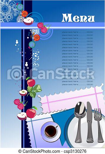 menu, (cafe), restaurant - csp3130276
