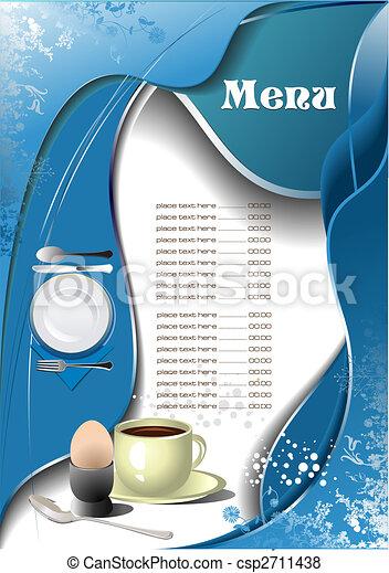 menu, (cafe), restaurant - csp2711438