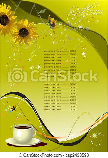 menu, (cafe), restaurant - csp2438593