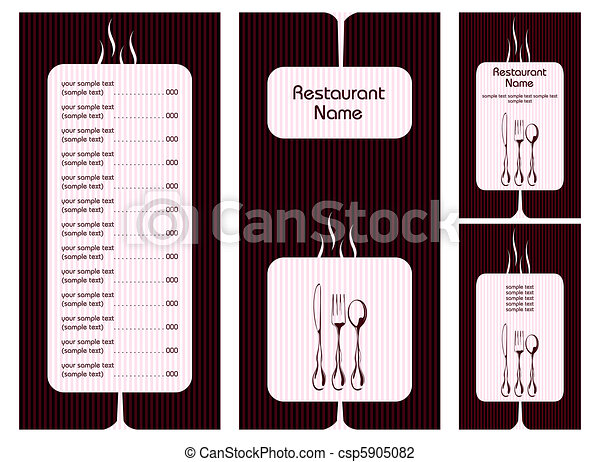 menu, carte, gabarit - csp5905082