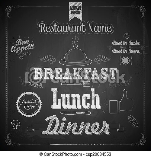 menu, chalkboard - csp20034553