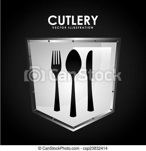 menu, conception, restaurant - csp23832414
