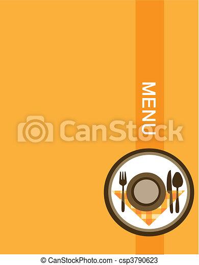 menu, conception, restaurant - csp3790623