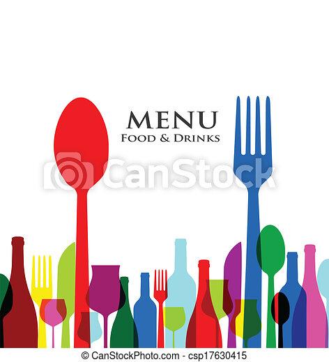 menu, conceptions, couverture, retro, restaurant - csp17630415