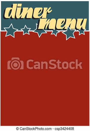 menu, dîneur - csp3424408
