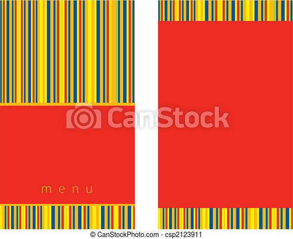 menu, design, červeň - csp2123911