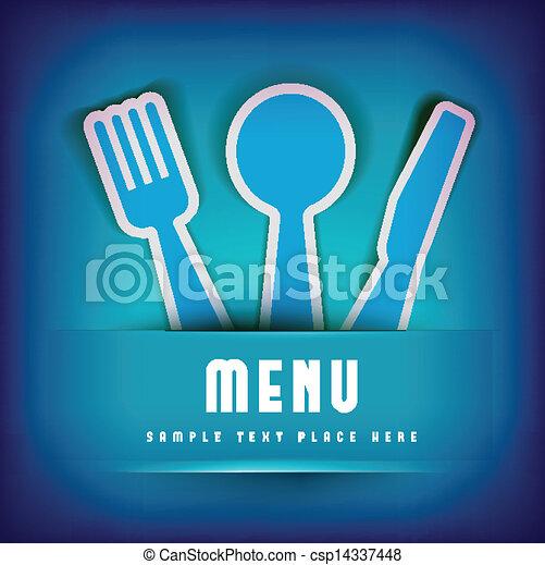 menu, disegno, scheda, sagoma, ristorante - csp14337448