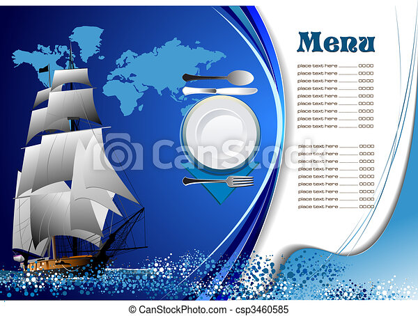 menu, fish, (cafe), restaurant - csp3460585