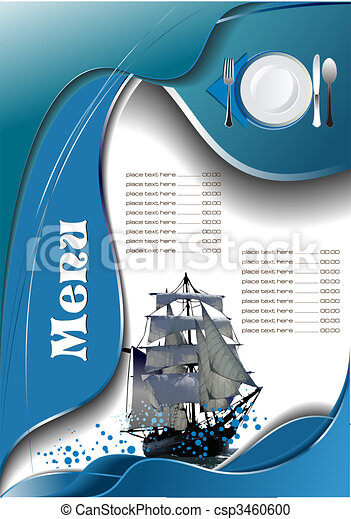 menu, fish, (cafe), restaurant - csp3460600