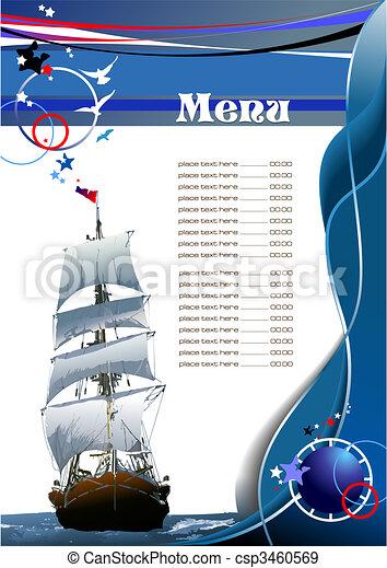 menu, fish, (cafe), restaurant - csp3460569