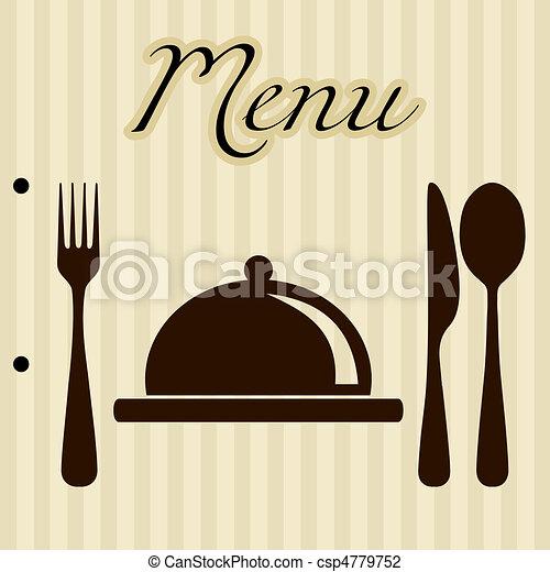 menu, fond, restaurant - csp4779752