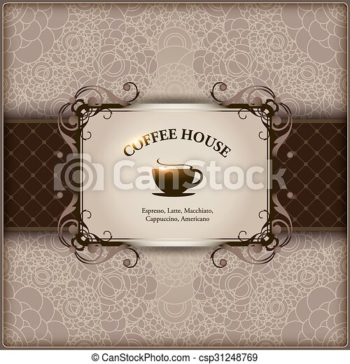 Menu for restaurant, cafe, bar, coffeehouse. - csp31248769