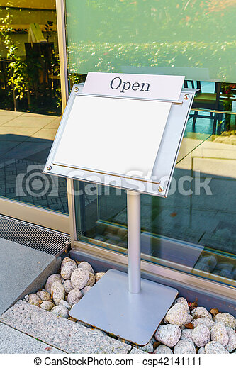 Menu frame in front of Restaurant - csp42141111