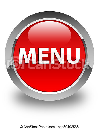 Menu glossy red round button - csp50492568